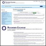 Buscador de evidencias: Resúmenes Cochrane Beta ¡NUEVO!
