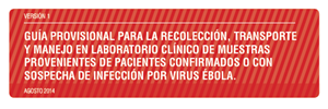 Guía provisional Ebóla. MINSAL Chile Agosto 2014