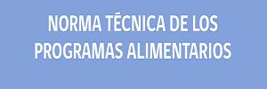 Norma técnica de los programas alimentarios, MINSAL Chile – 2016