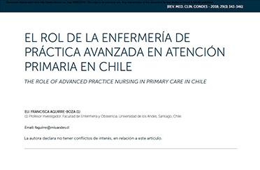 El rol de la enfermería de práctica avanzada en atención primaria en chile. Rev. Med. Clin. Condes 2018