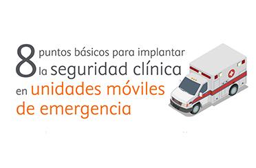8 puntos básicos para implantar la seguridad clínica en unidades de emergencia