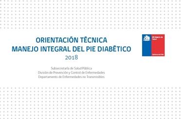 Orientación Técnica Manejo integral del pie diabético. MINSAL Chile 2018.